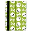 Skull Bone Mask Face White Green iPad Air Flip View4