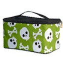 Skull Bone Mask Face White Green Cosmetic Storage Case View3