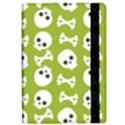 Skull Bone Mask Face White Green Apple iPad Pro 9.7   Flip Case View2