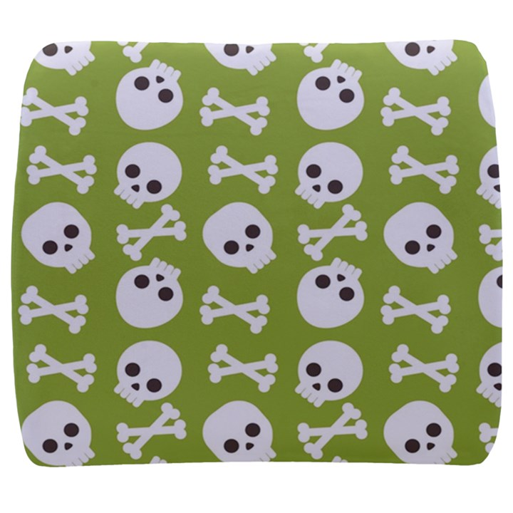 Skull Bone Mask Face White Green Back Support Cushion