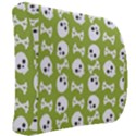 Skull Bone Mask Face White Green Back Support Cushion View2