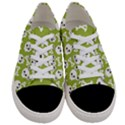 Skull Bone Mask Face White Green Women s Low Top Canvas Sneakers View1