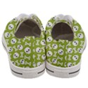 Skull Bone Mask Face White Green Women s Low Top Canvas Sneakers View4