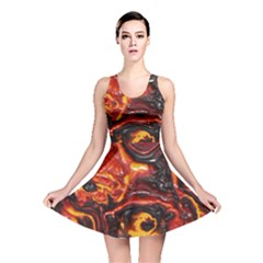 Lava Active Volcano Nature Reversible Skater Dress by Alisyart