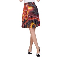 Lava Active Volcano Nature A Line Skirt