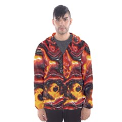 Lava Active Volcano Nature Hooded Wind Breaker (men) by Alisyart