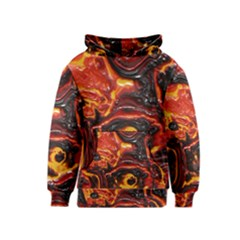 Lava Active Volcano Nature Kids  Pullover Hoodie by Alisyart