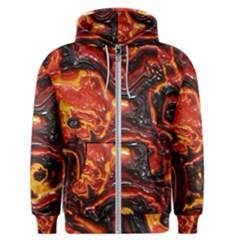 Lava Active Volcano Nature Men s Zipper Hoodie by Alisyart