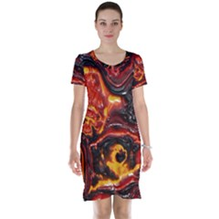 Lava Active Volcano Nature Short Sleeve Nightdress