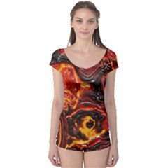 Lava Active Volcano Nature Boyleg Leotard  by Alisyart
