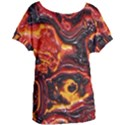 Lava Active Volcano Nature Women s Oversized Tee View1