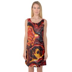 Lava Active Volcano Nature Sleeveless Satin Nightdress by Alisyart
