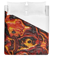 Lava Active Volcano Nature Duvet Cover (queen Size)