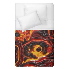 Lava Active Volcano Nature Duvet Cover (single Size) by Alisyart