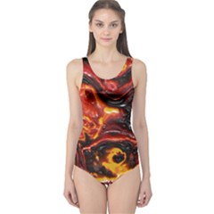 Lava Active Volcano Nature One Piece Swimsuit by Alisyart