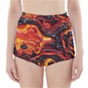 Lava Active Volcano Nature High-Waisted Bikini Bottoms View1