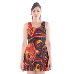 Lava Active Volcano Nature Scoop Neck Skater Dress by Alisyart