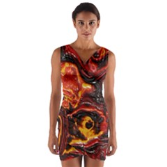 Lava Active Volcano Nature Wrap Front Bodycon Dress by Alisyart