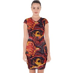 Lava Active Volcano Nature Capsleeve Drawstring Dress  by Alisyart