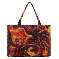 Lava Active Volcano Nature Zipper Medium Tote Bag by Alisyart