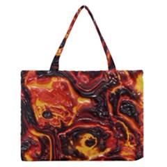 Lava Active Volcano Nature Zipper Medium Tote Bag