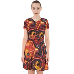 Lava Active Volcano Nature Adorable In Chiffon Dress