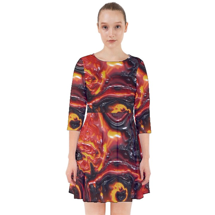 Lava Active Volcano Nature Smock Dress