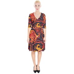 Lava Active Volcano Nature Wrap Up Cocktail Dress by Alisyart
