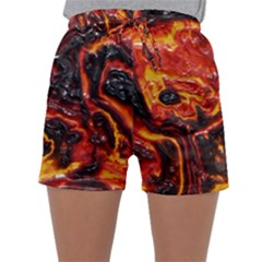 Lava Active Volcano Nature Sleepwear Shorts