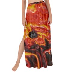 Lava Active Volcano Nature Maxi Chiffon Tie Up Sarong