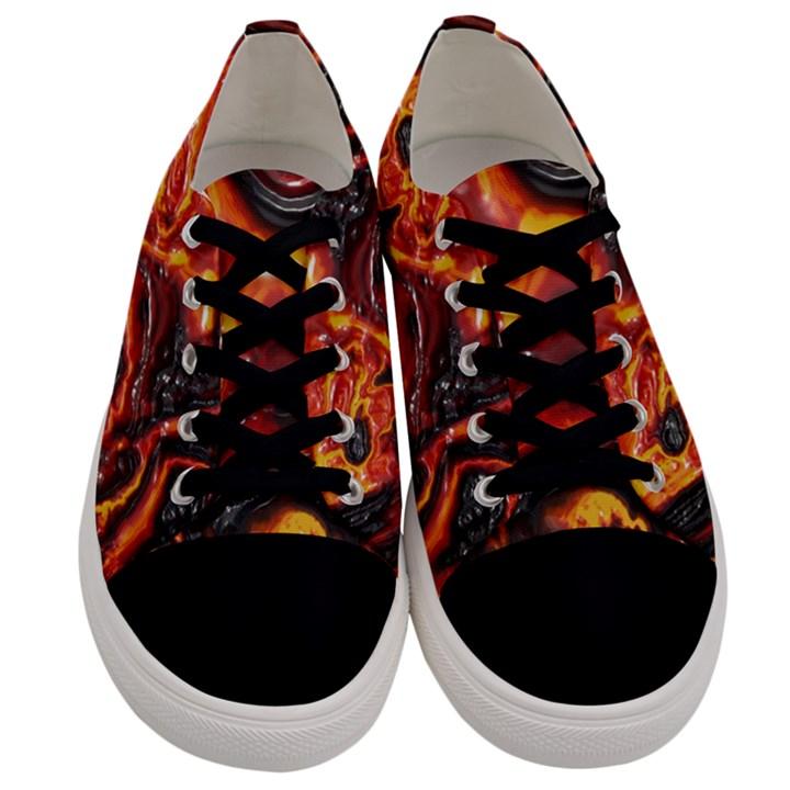 Lava Active Volcano Nature Men s Low Top Canvas Sneakers