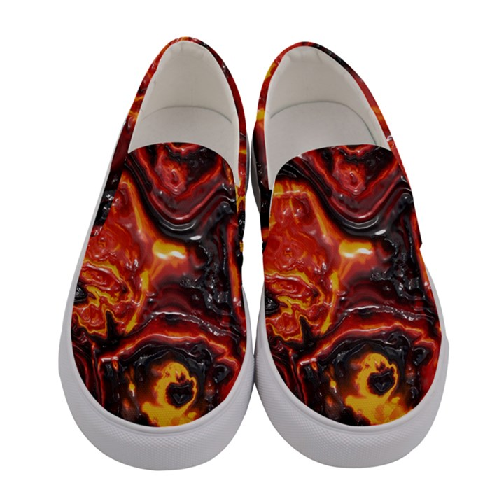 Lava Active Volcano Nature Women s Canvas Slip Ons