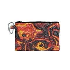 Lava Active Volcano Nature Canvas Cosmetic Bag (small)