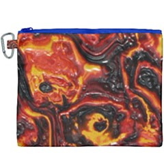 Lava Active Volcano Nature Canvas Cosmetic Bag (xxxl) by Alisyart