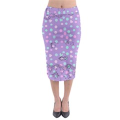 Little Face Midi Pencil Skirt by snowwhitegirl