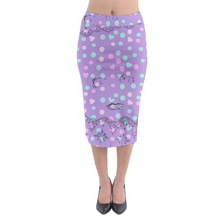 Little Face Midi Pencil Skirt