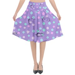 Little Face Flared Midi Skirt by snowwhitegirl