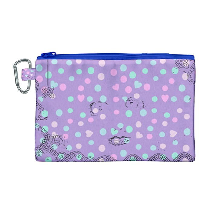 Little Face Canvas Cosmetic Bag (Large)