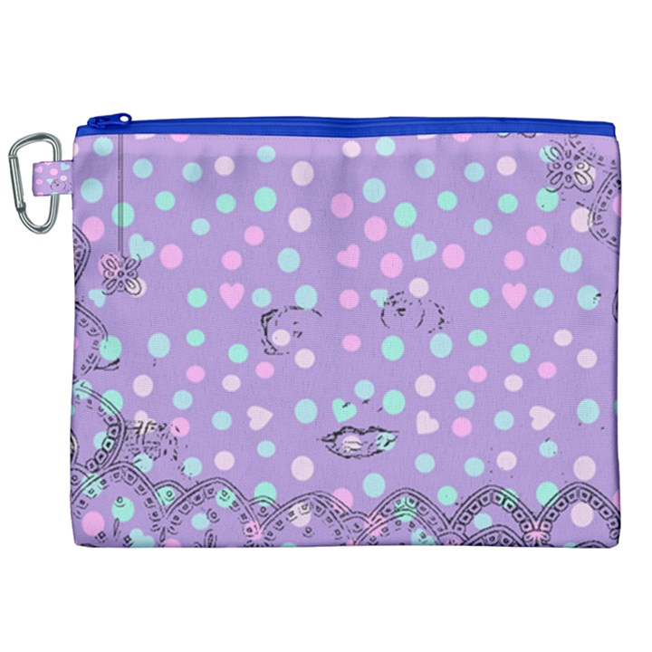 Little Face Canvas Cosmetic Bag (XXL)