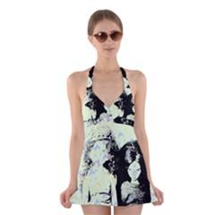Mint Wall Halter Dress Swimsuit