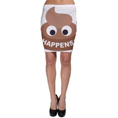 Poo Happens Bodycon Skirt