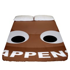 Poo Happens Fitted Sheet (king Size)