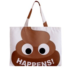 Poo Happens Zipper Mini Tote Bag by Vitalitee