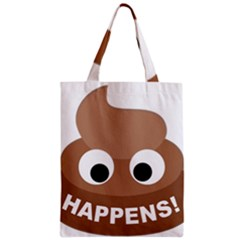 Poo Happens Zipper Classic Tote Bag by Vitalitee