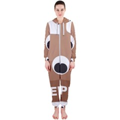 Poo Happens Hooded Jumpsuit (ladies)