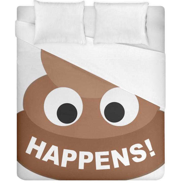 Poo Happens Duvet Cover (California King Size)