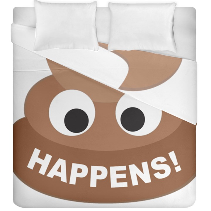 Poo Happens Duvet Cover Double Side (King Size)