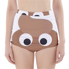 Poo Happens High Waisted Bikini Bottoms