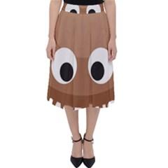 Poo Happens Folding Skater Skirt
