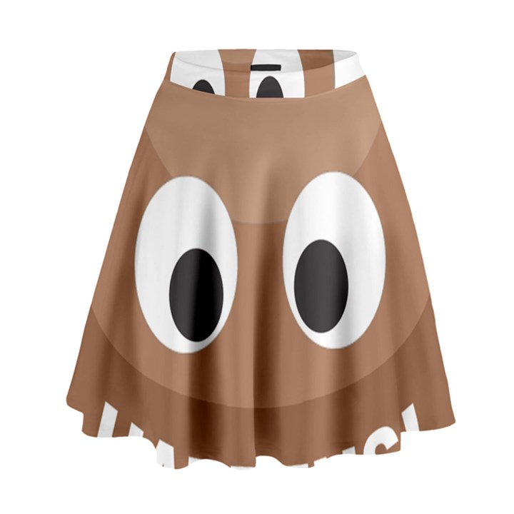 Poo Happens High Waist Skirt